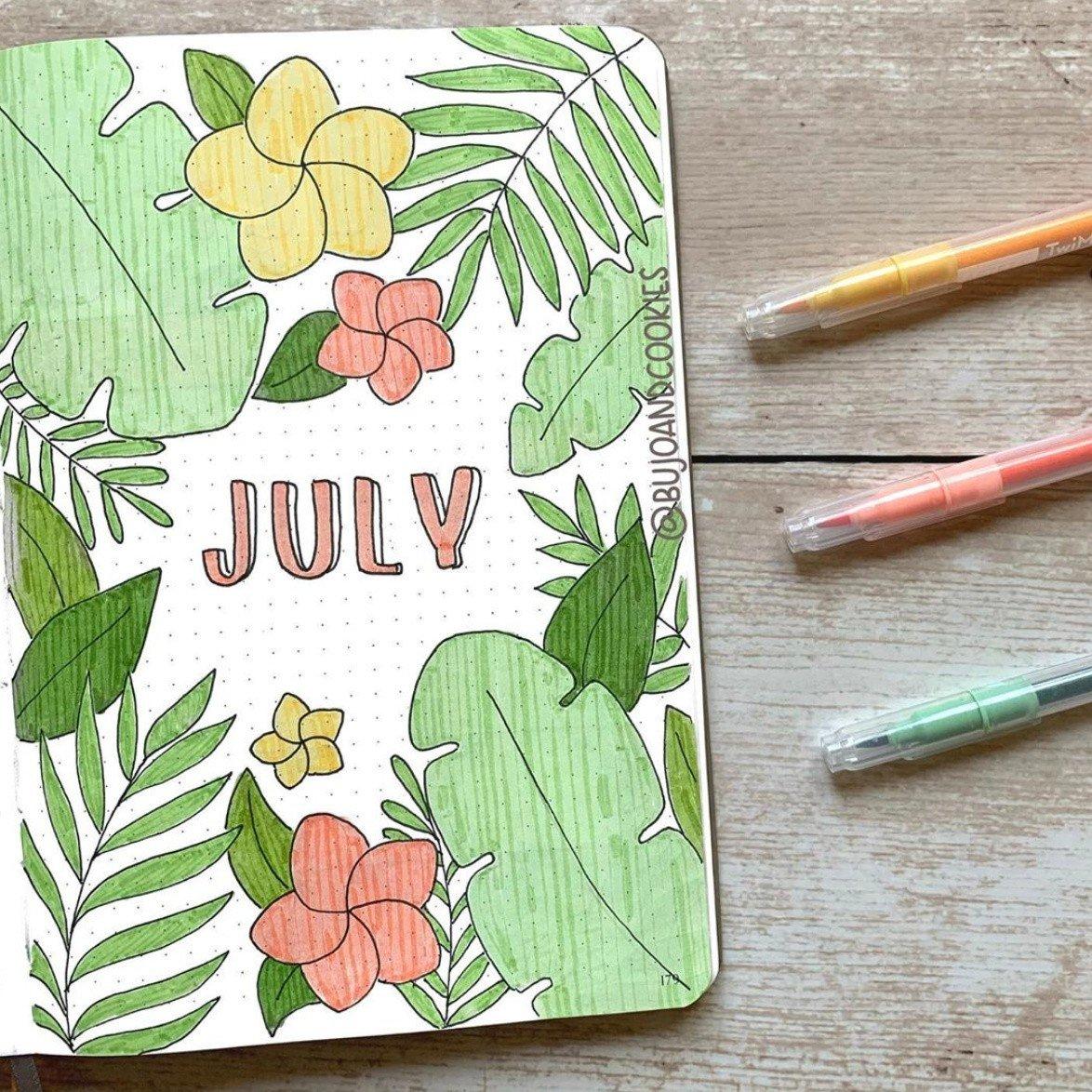 Best JULY Bullet Journal Ideas that You'll Love