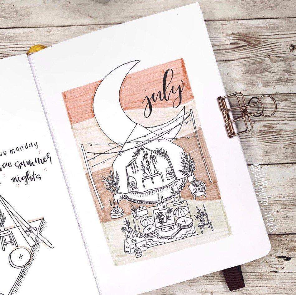 best july bullet journal ideas