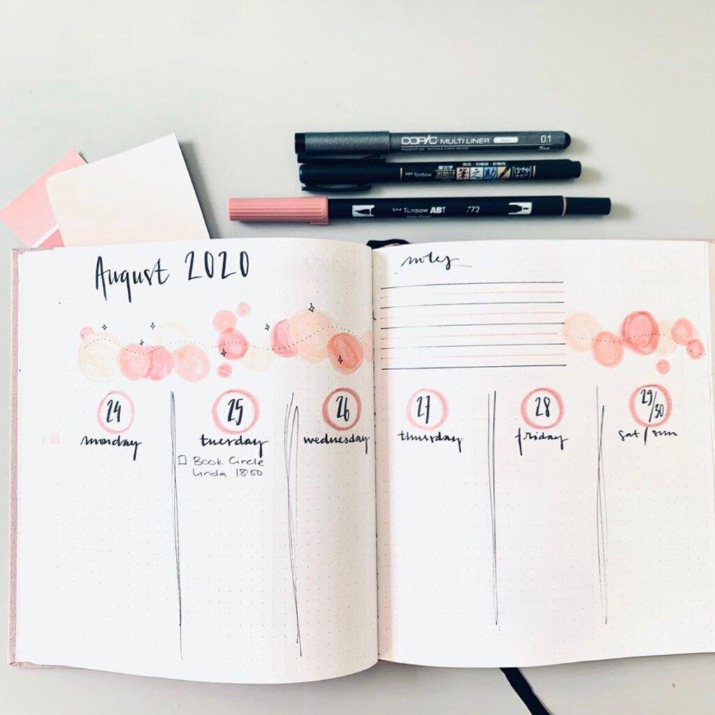 bullet-journal-august-flower