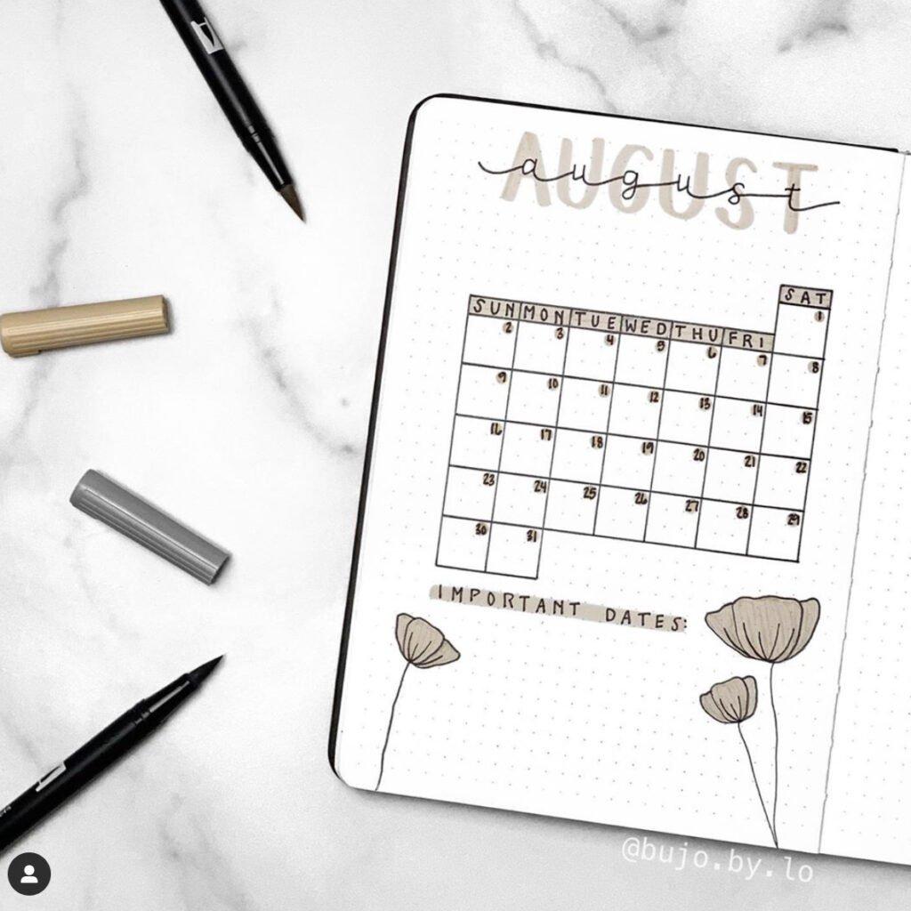 bullet-journal-august