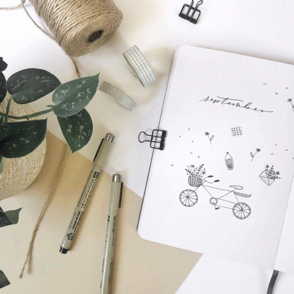 bullet journal september minimalist