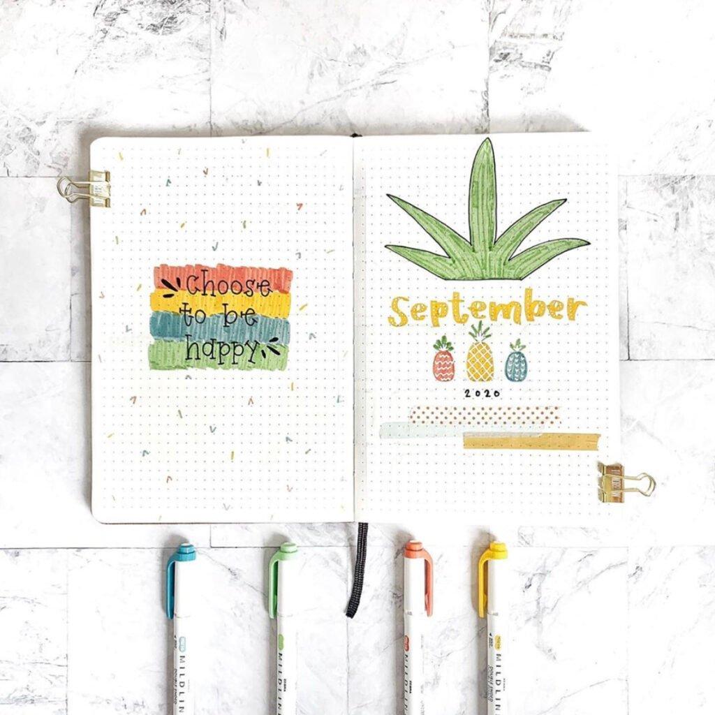 bullet journal september ideas