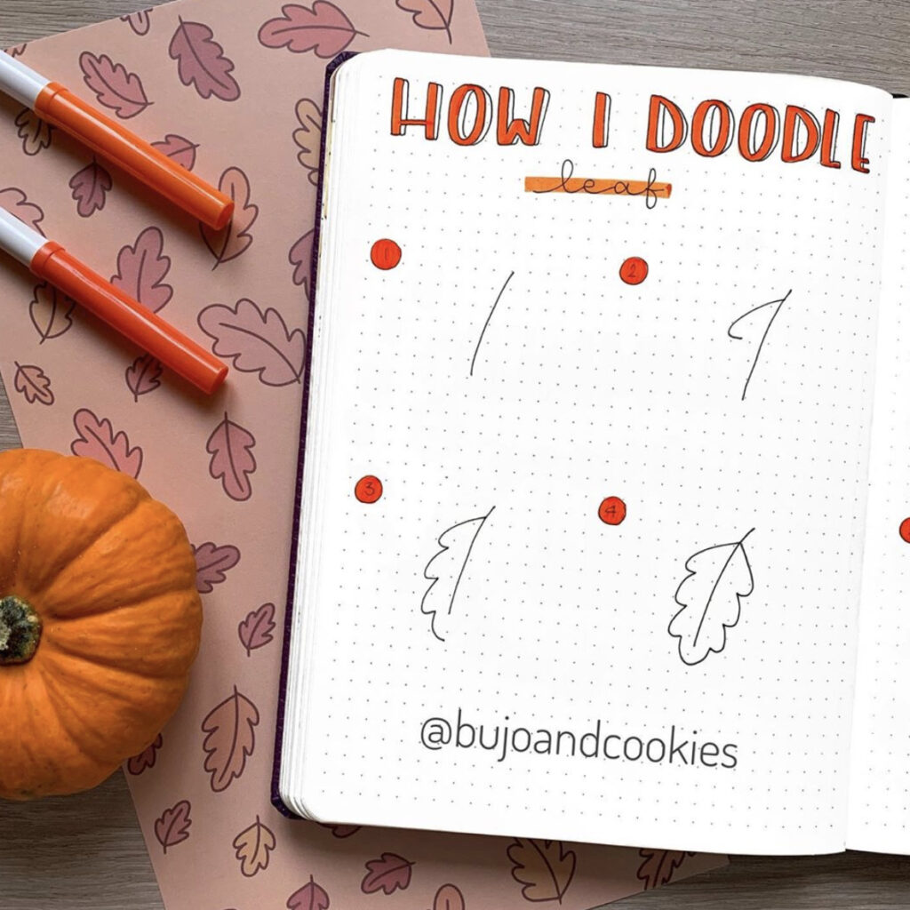 how to draw autumn leaf