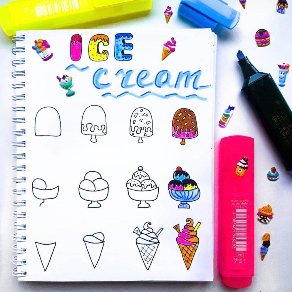 how to draw ice cream