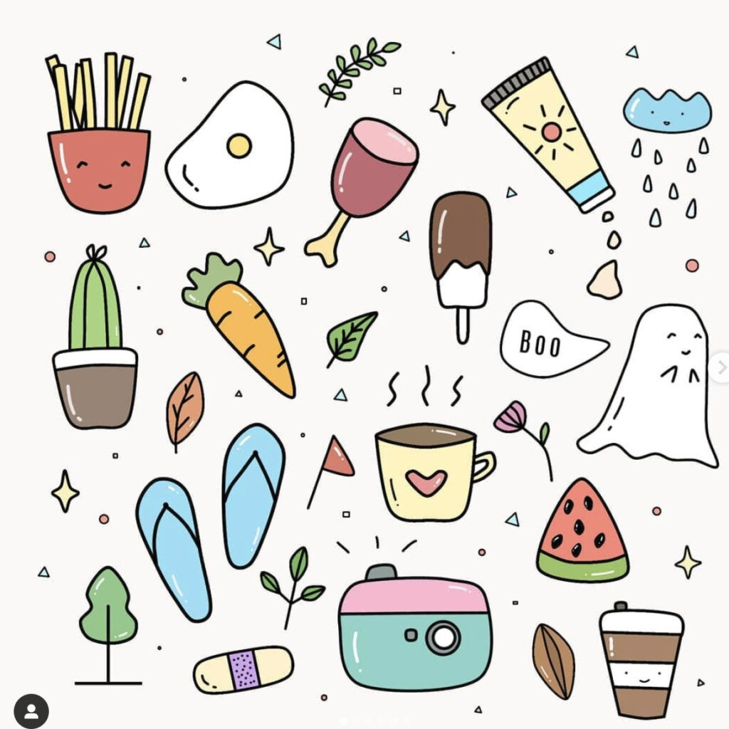 how to draw food cartoons