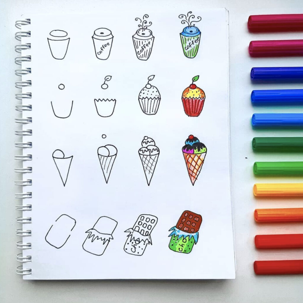 how to draw food