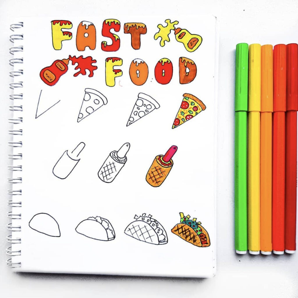 how to draw food chain