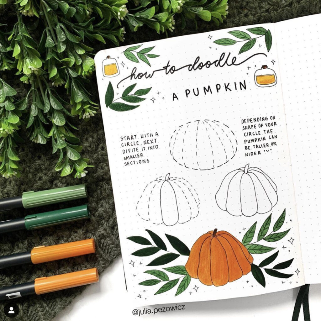how to draw pumpkin step by step