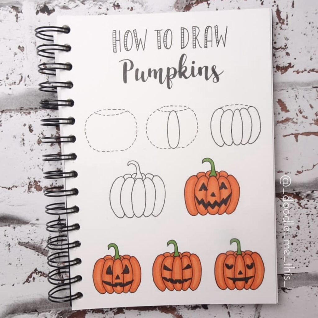 how to draw pumpkin face