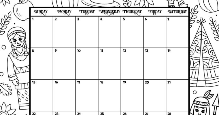 2020 Coloring Calendar Printable that you will love
