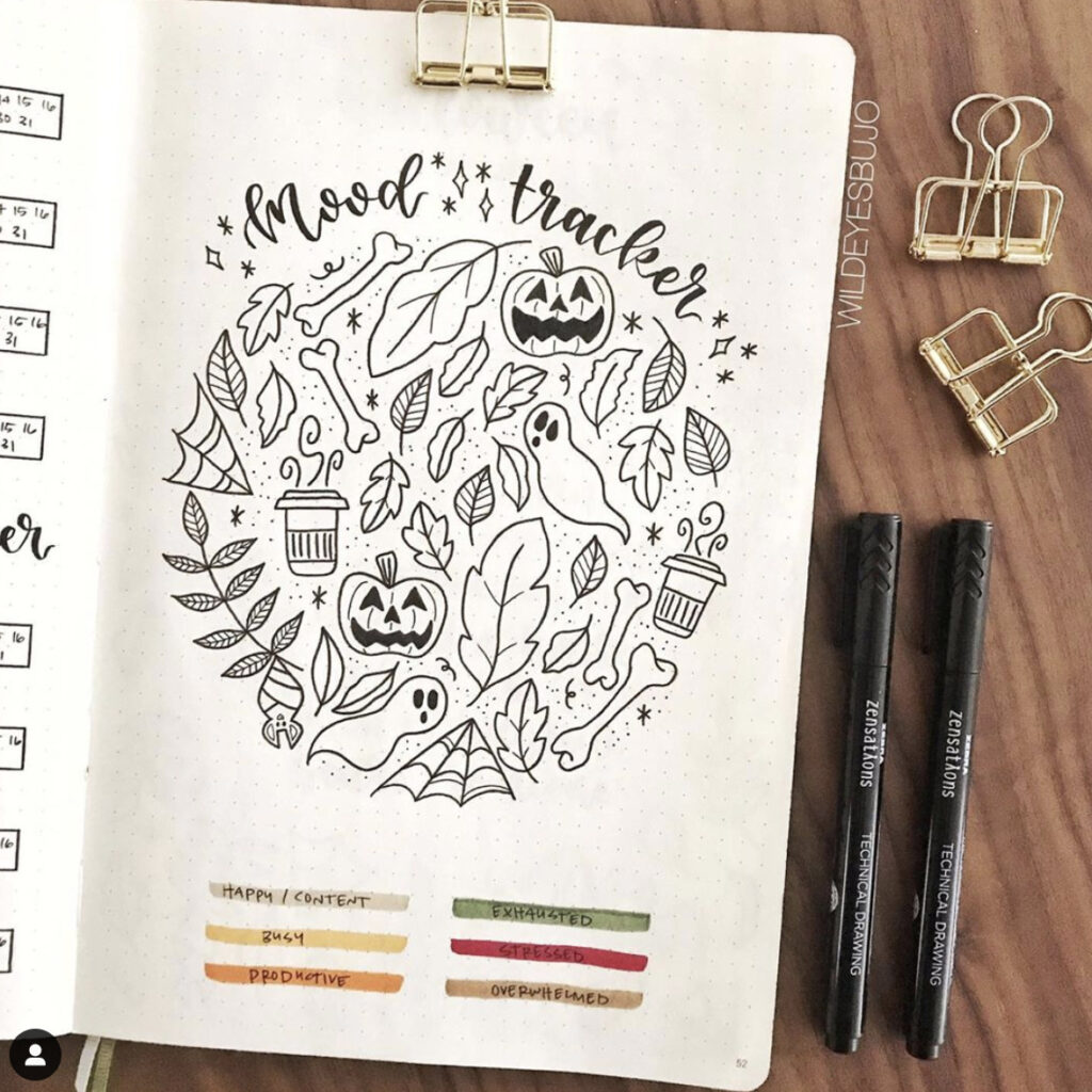 october bullet journal layout