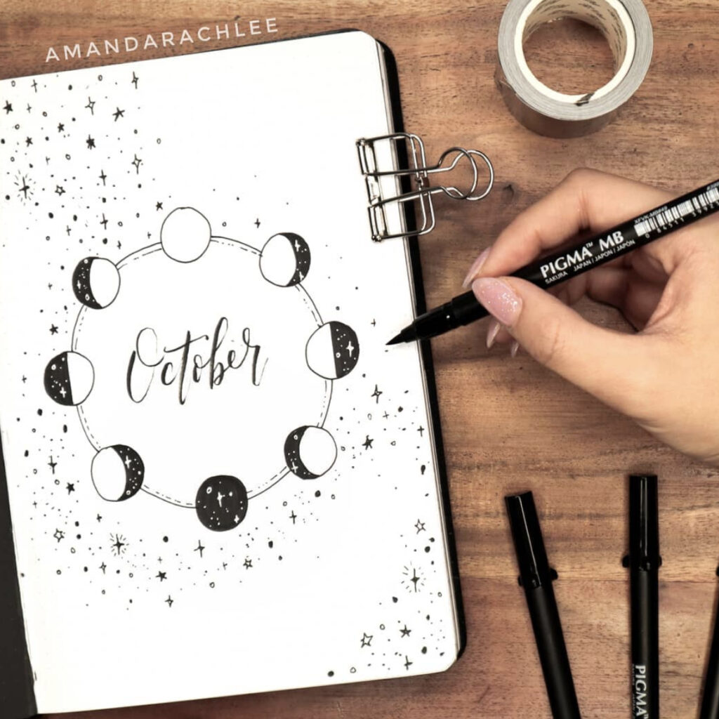 october bullet journal cover