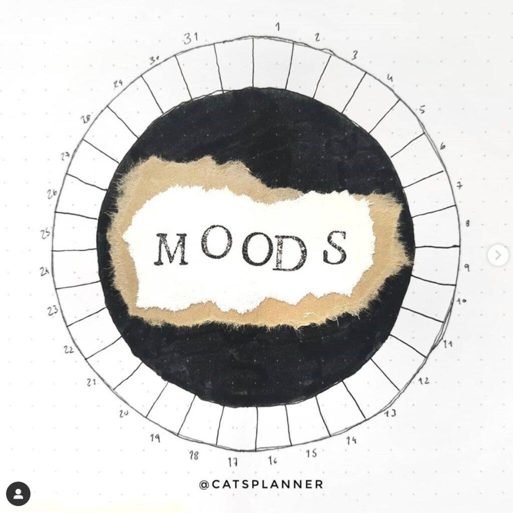 october bullet journal mood tracker