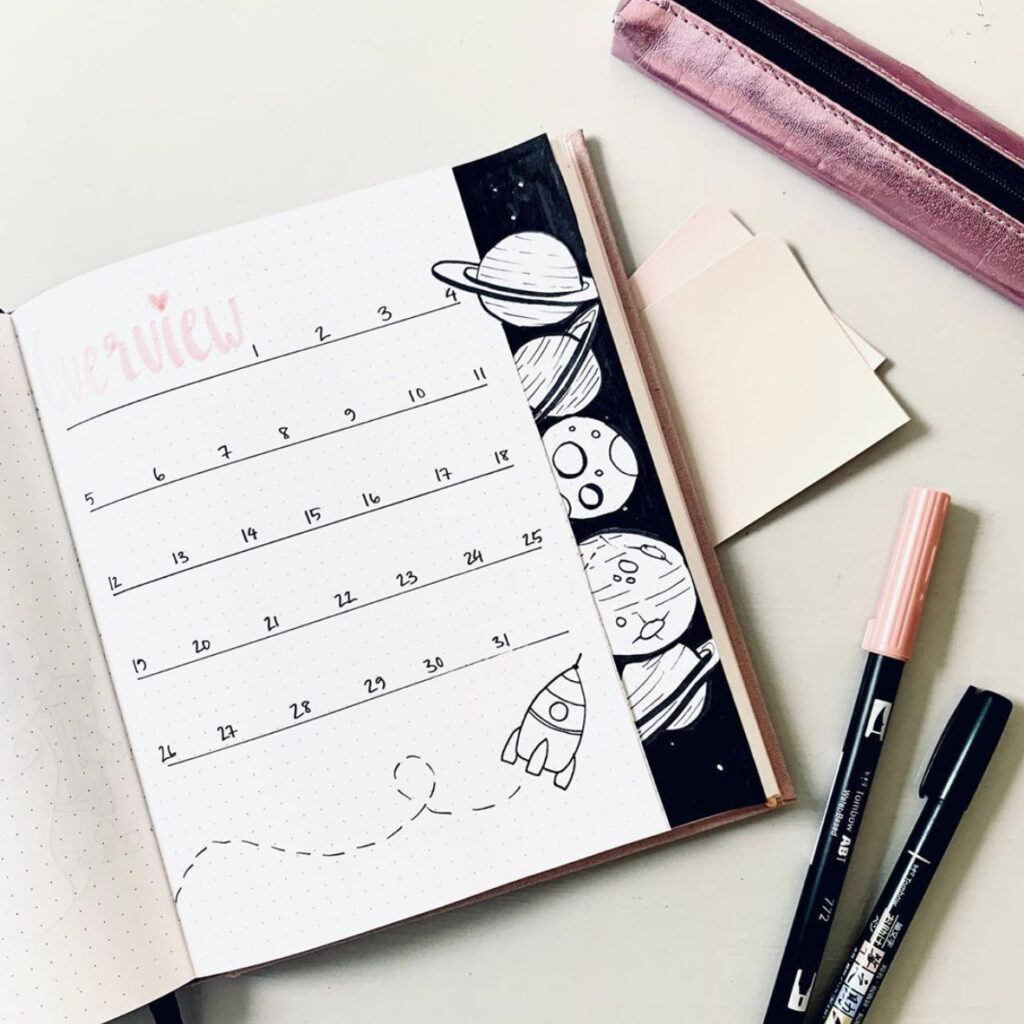 october bullet journal ideas