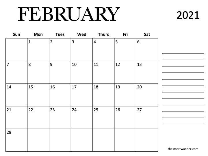 february 2021 printable calendar