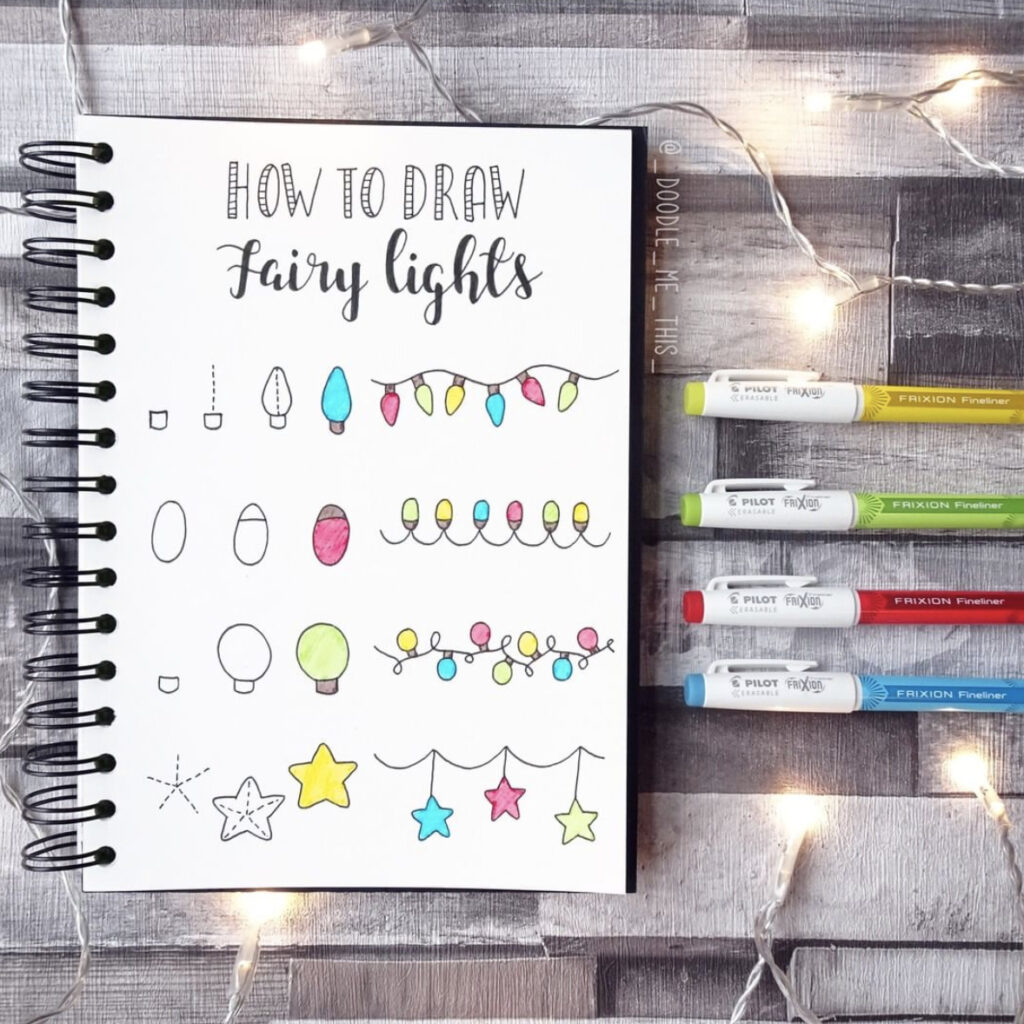 how to draw fairy lights