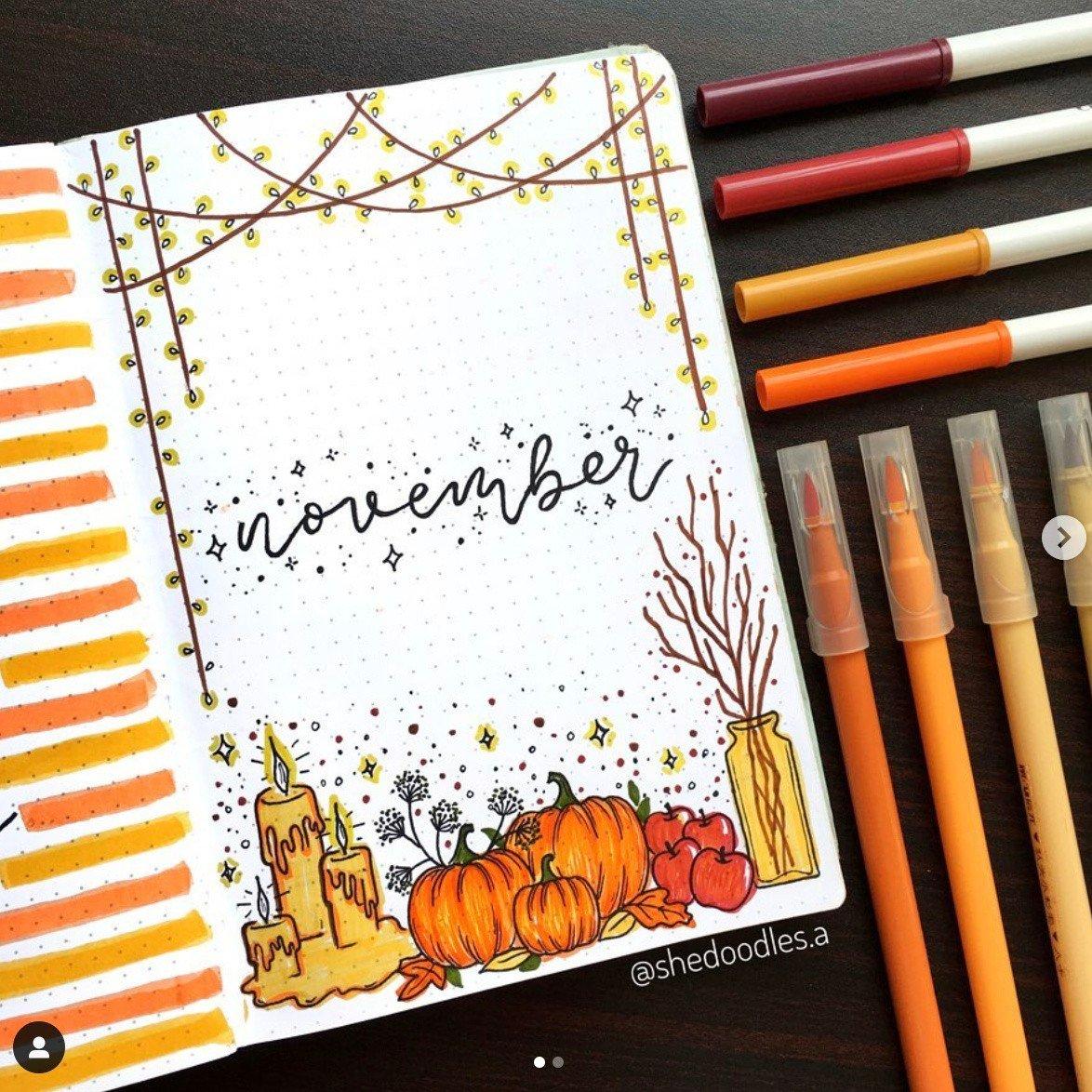 Best NOVEMBER Bullet Journal Ideas that You'll Love